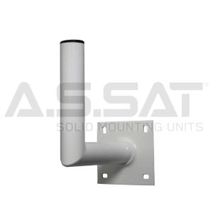 A.S.SAT Solid Mounting Units - Alu- Wandhalter / 25x25cm ( TÜV ) VPE 10 / weiß