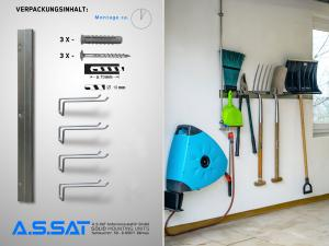A.S.SAT Solid Mounting Units - Gartenkleingeräte Wandhalter-Set / Home Ordnung