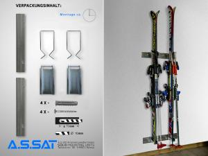 A.S.SAT Solid Mounting Units - Skiwandhalter-Aufbewahrungs-Set / Home Ordnung