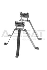 A.S.SAT Solid Mounting Units - Stahl-Wh.-Set  30cm / verstellbarer Abstand