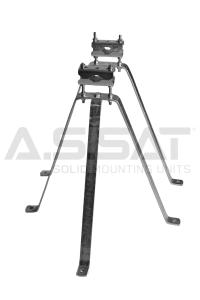 A.S.SAT Solid Mounting Units - Stahl-Wh.-Set  50cm / verstellbarer Abstand