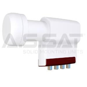 A.S.SAT Solid Mounting Units - Inverto Red LNB / Universal Quattro / 0,3 dB